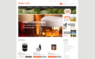 Homebrew Supply Shop Magento Theme
