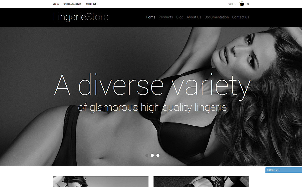 Responsives Shopify Theme für Unterwäsche  New Screenshots BIG