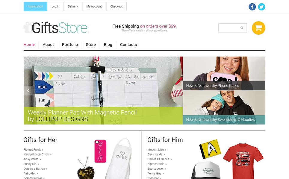 Tema WooCommerce Responsive #49593 per Un Sito di Negozio di Regali New Screenshots BIG