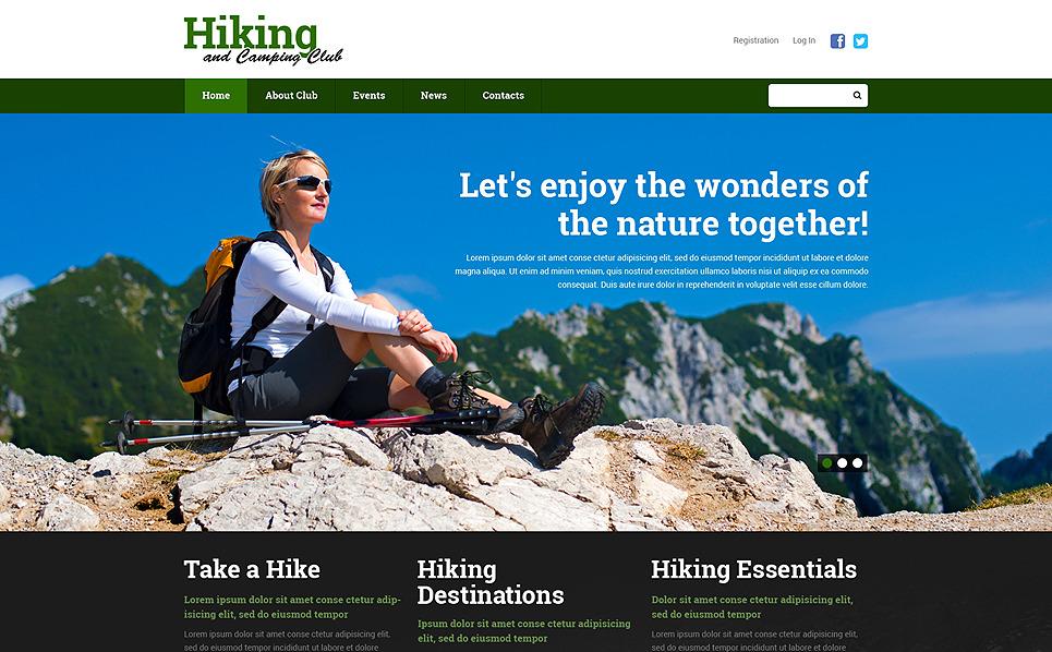 Responzivní Šablona webových stránek na téma Pěší turistika New Screenshots BIG