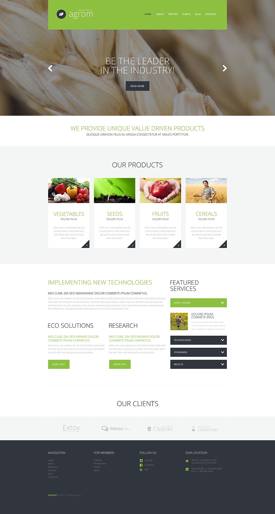 Адаптивный шаблон сайта на тему фрукты #49547