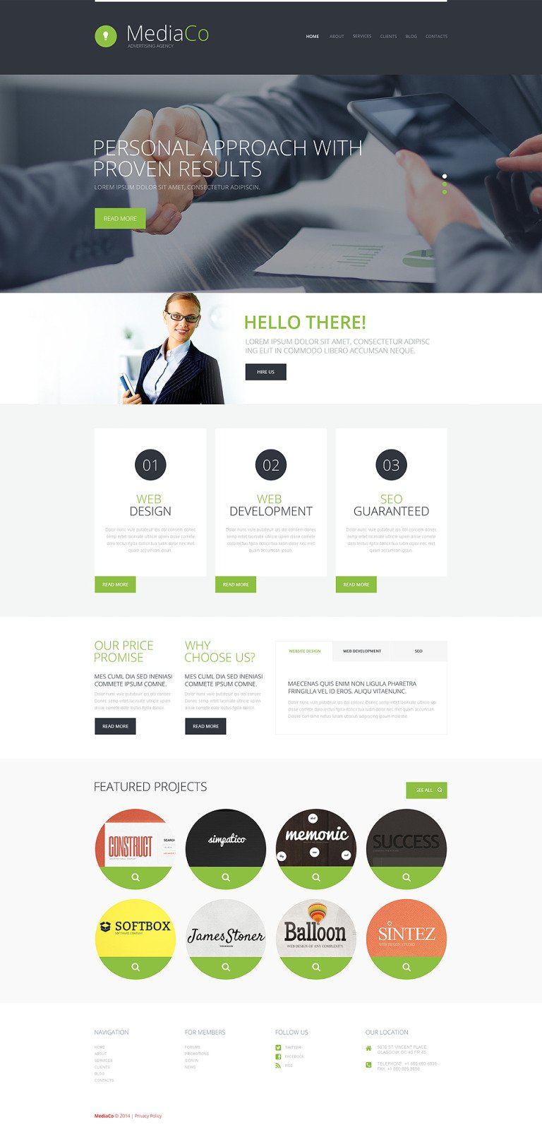 Advertising Agency WordPress Theme New Screenshots BIG