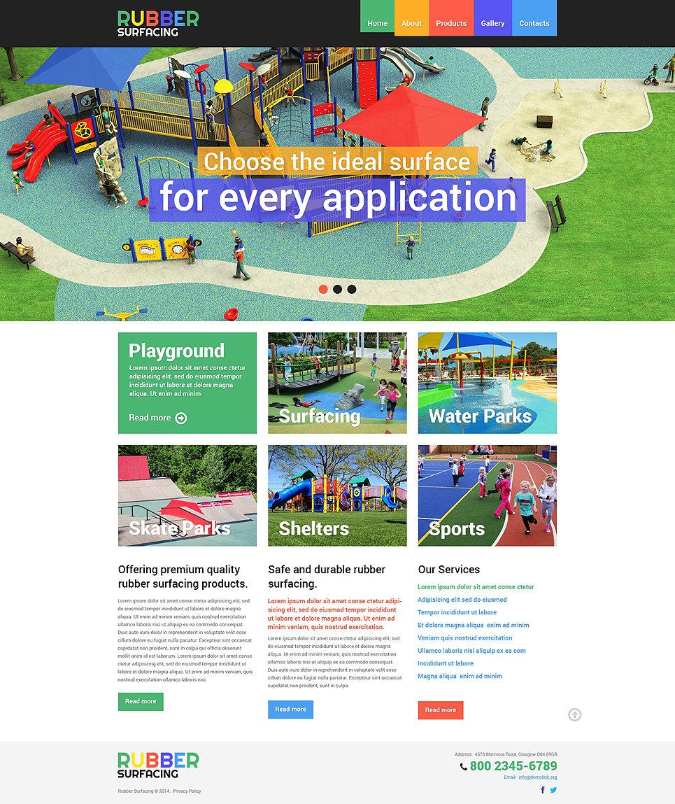 Amusement park responsive website template 49597 toneelgroepblik Image collections