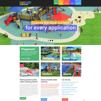Amusement park responsive website template 51314 pronofoot35fo Image collections