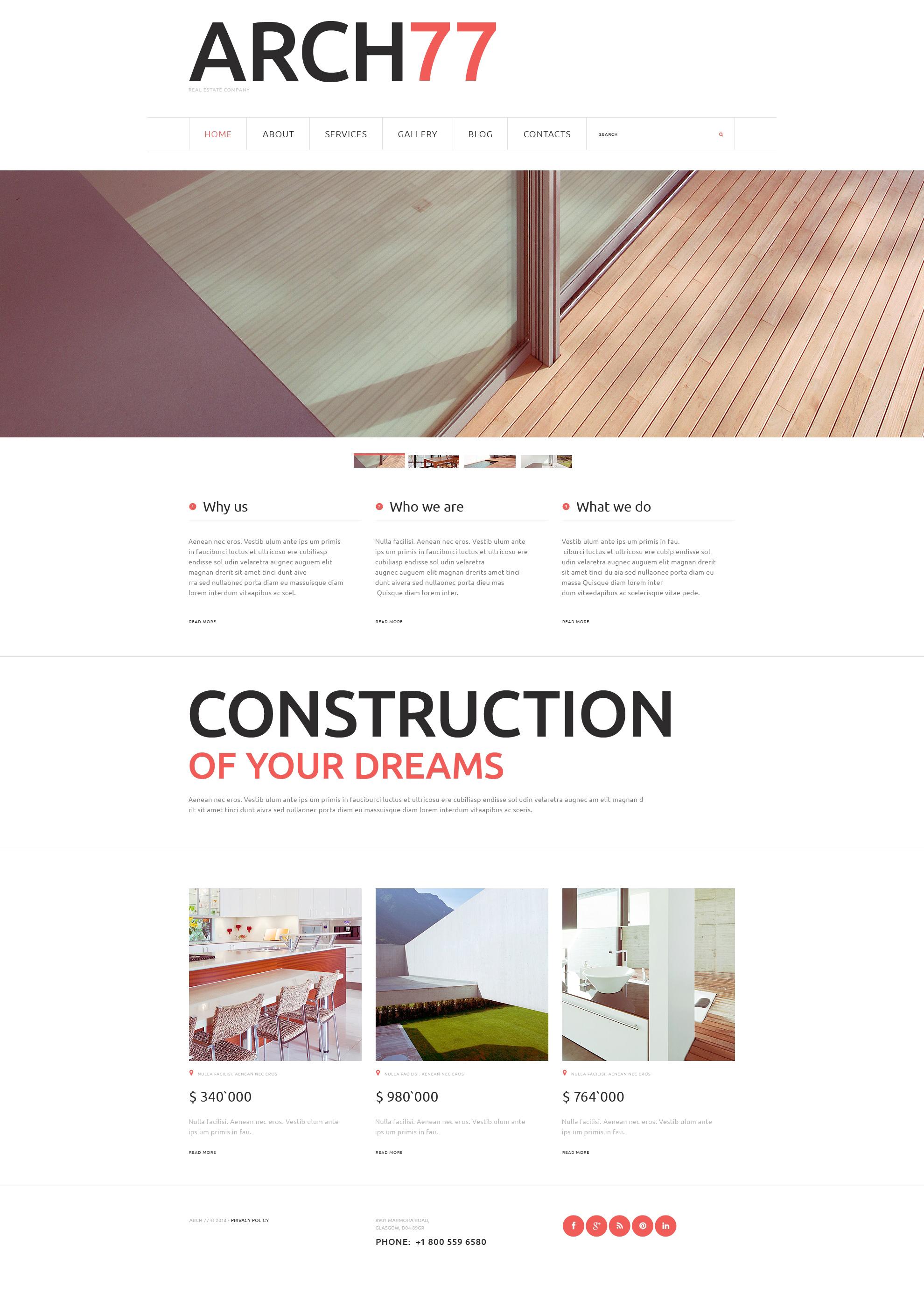 """Architecture"" - адаптивний Joomla шаблон №49571 - скріншот"