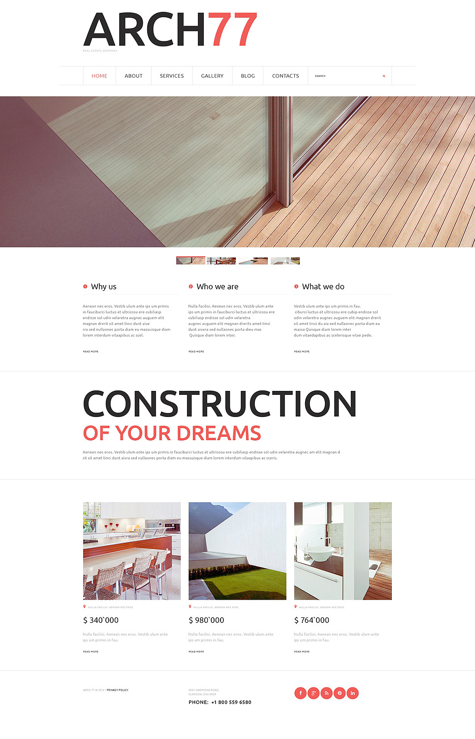 Architecture Joomla Template New Screenshots BIG