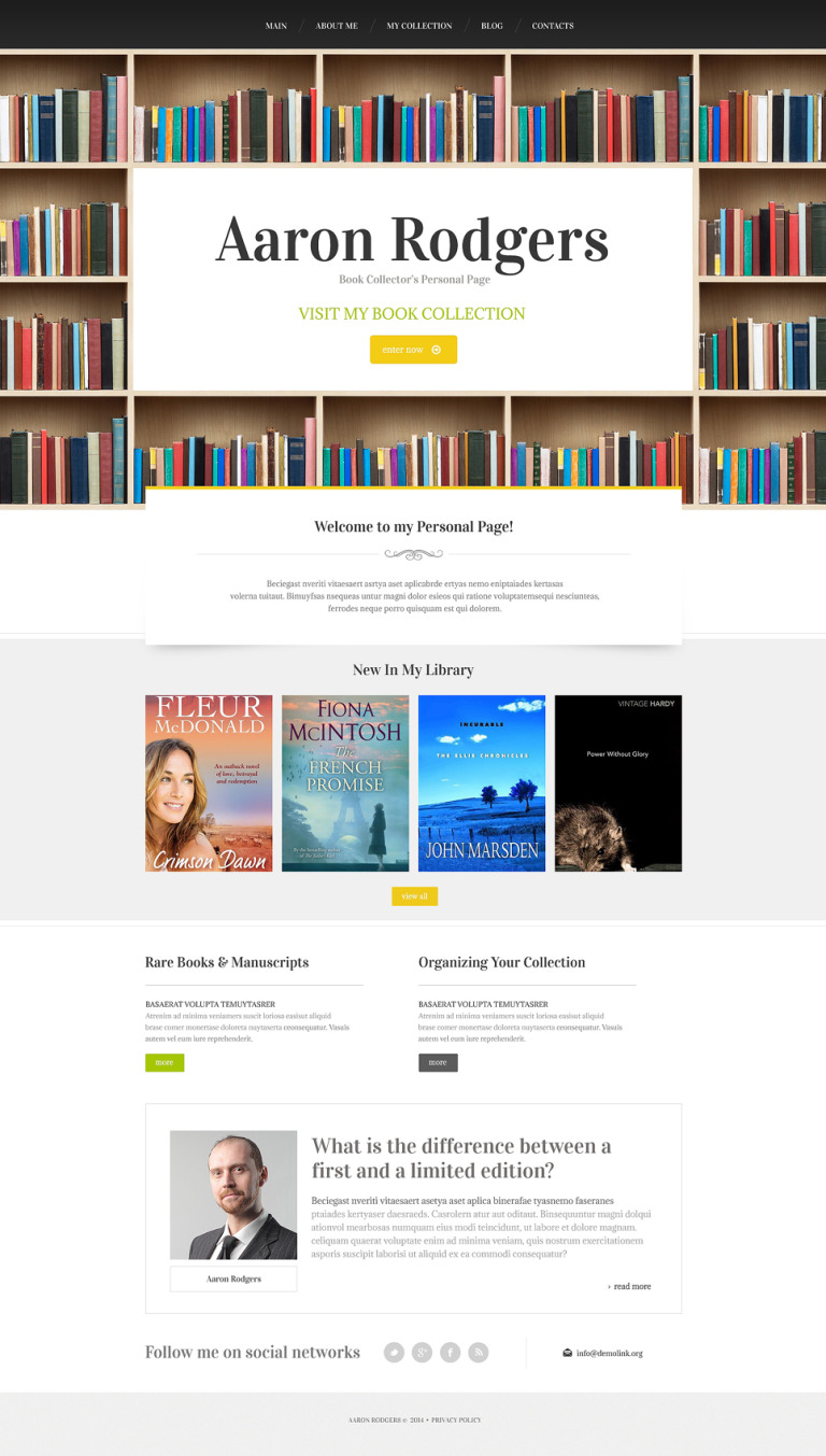 Book Reviews Drupal Template New Screenshots BIG