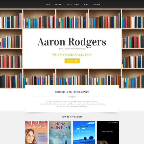 Aaron Rodgers - HTML5 Drupal Template