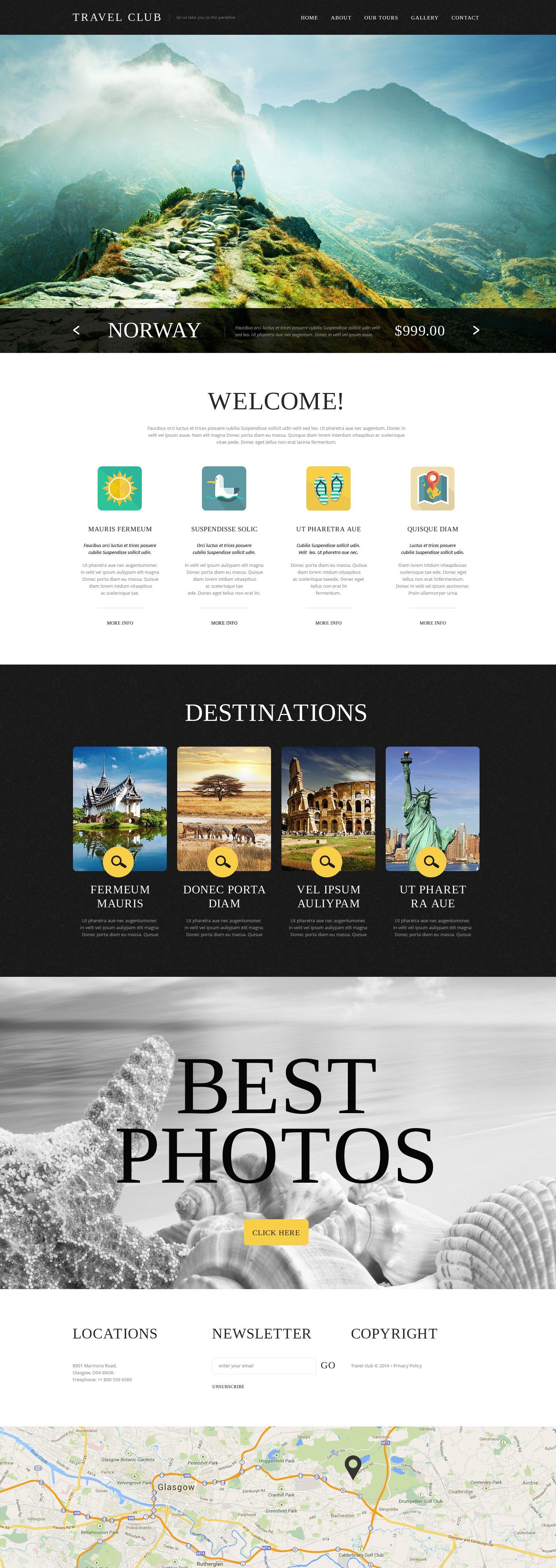 Bootstrap Šablona webových stránek na téma Cestovní kancelář #49528