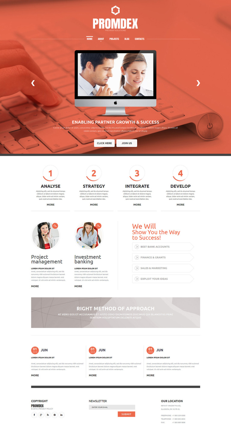 Business Consultant Joomla Template New Screenshots BIG