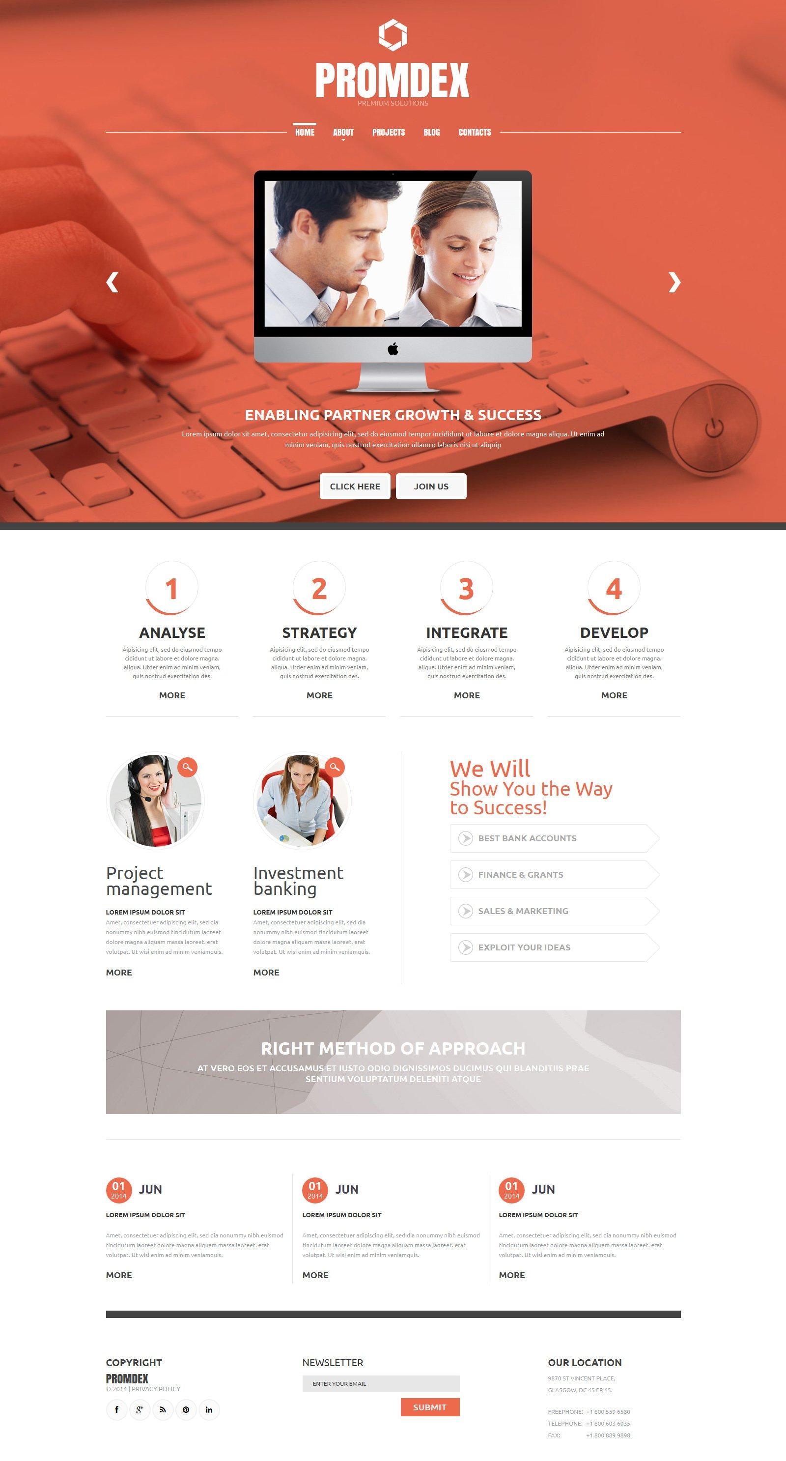 Business Consultant Joomla Template #49569
