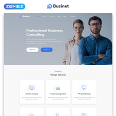 Businet Business Consulting Modern Multipage Html5 Parallax Website Template
