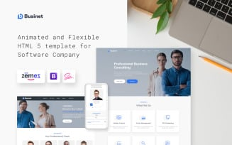 Businet - Consulting Agency Modern Multipage HTML5 Website Template