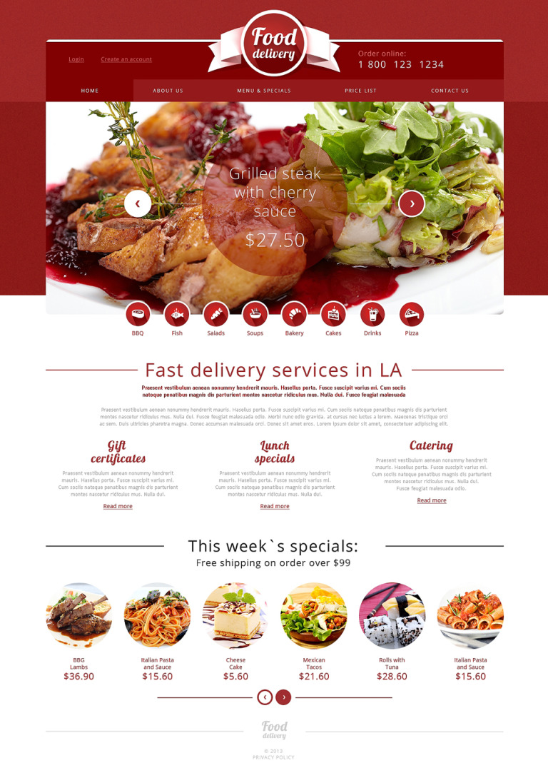 Catering Responsive Website Template New Screenshots BIG