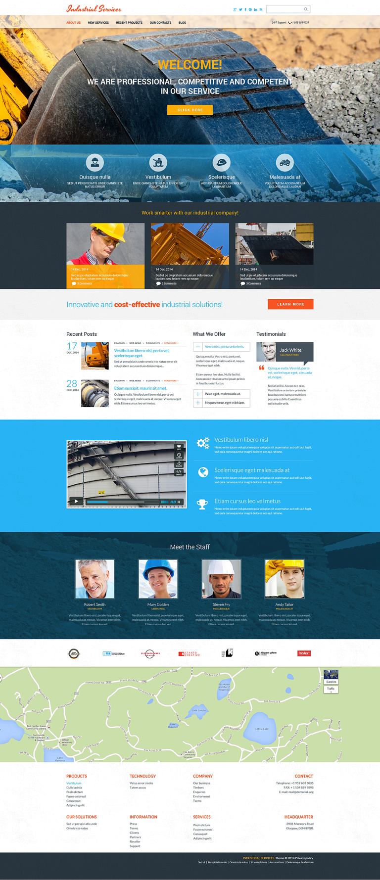 Civil Engineering Drupal Template New Screenshots BIG