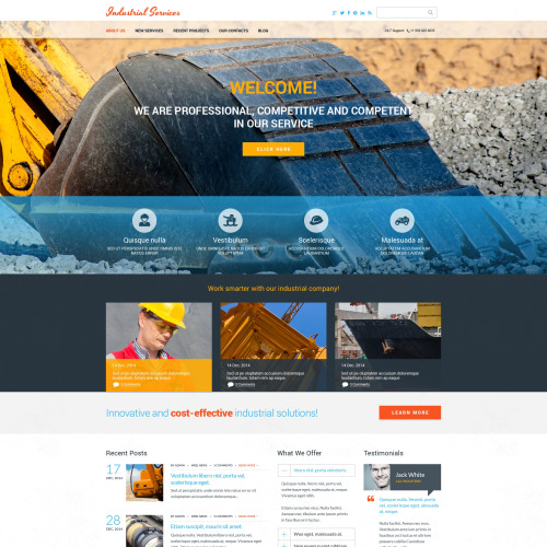 Industrial Services - HTML5 Drupal Template