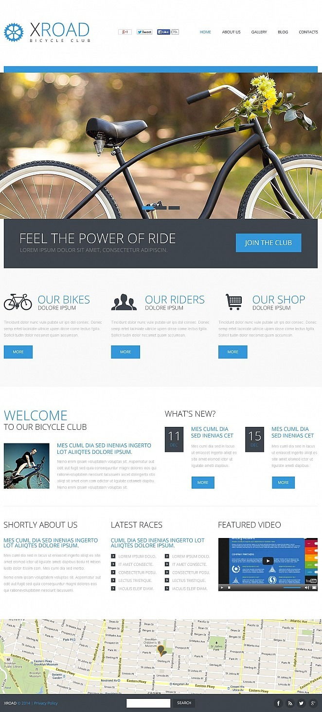 Cycling Flash CMS Template New Screenshots BIG