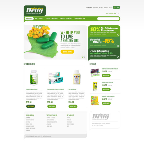 Online Drug Store - Responsive Magento Template