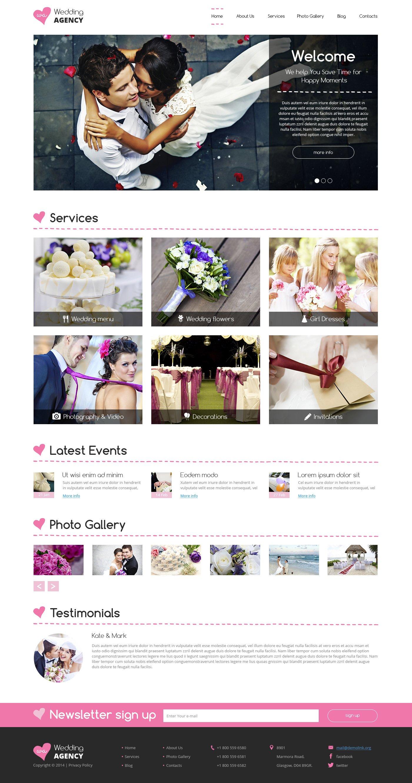 Drupal шаблон №49525 на тему организация свадьбы