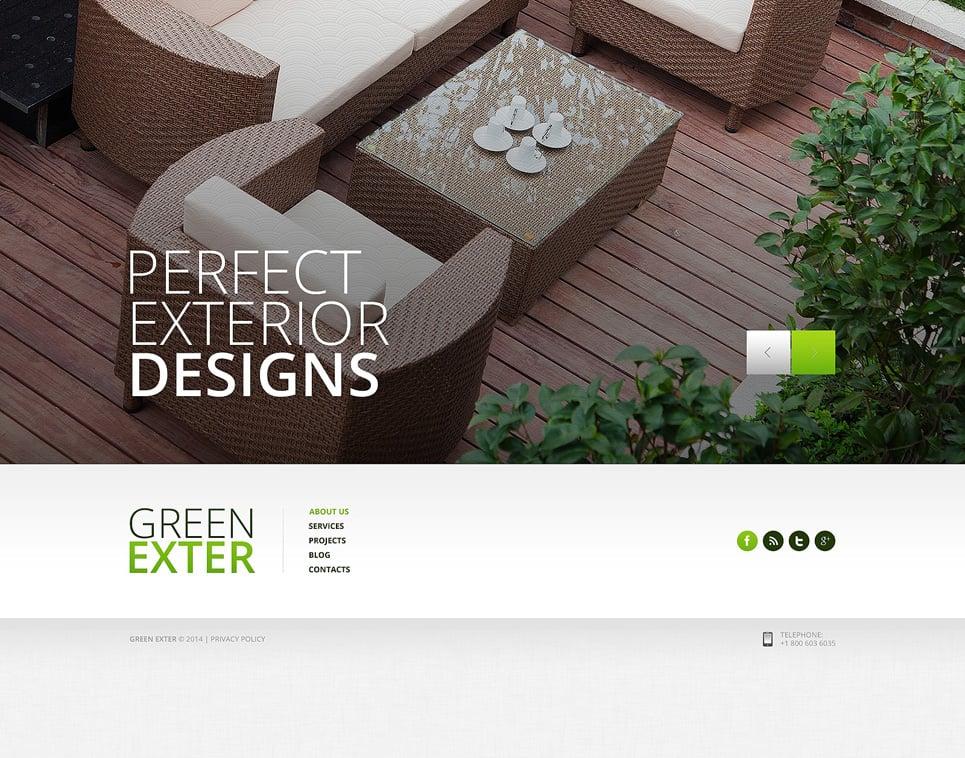 Exterior design website template 49504 for Exterior design templates