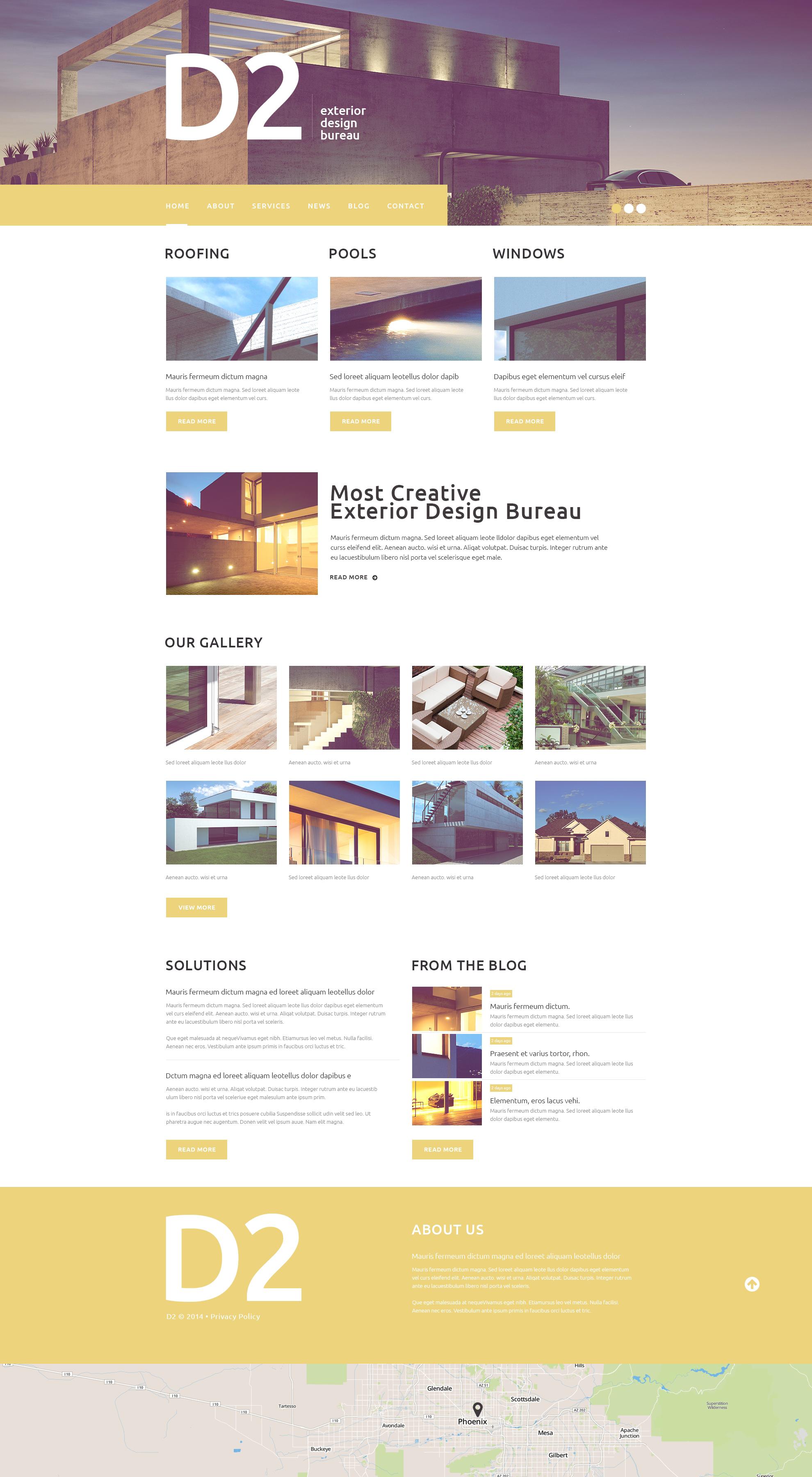Superb Exterior Design WordPress Theme