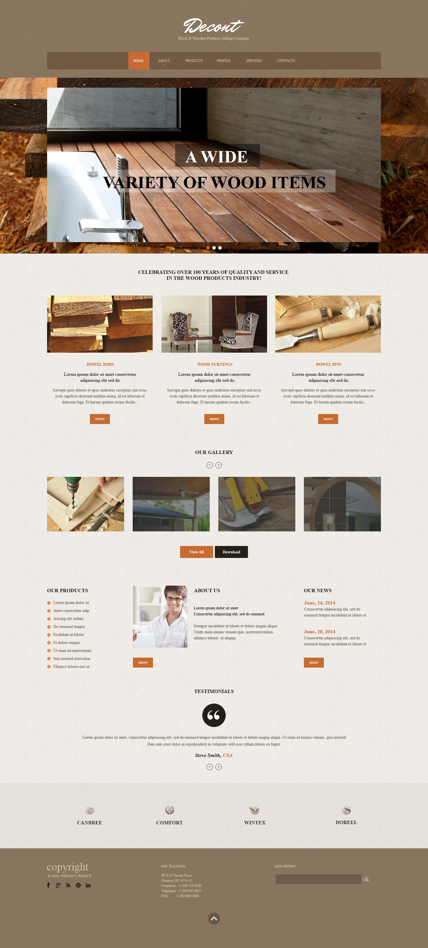 Flooring Responsive Website Template - screenshot