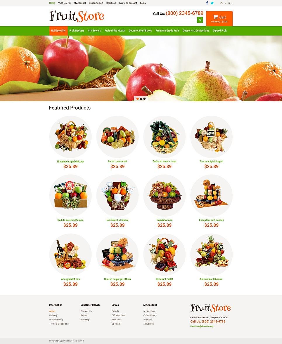 Fruit Gifts Store OpenCart Template New Screenshots BIG