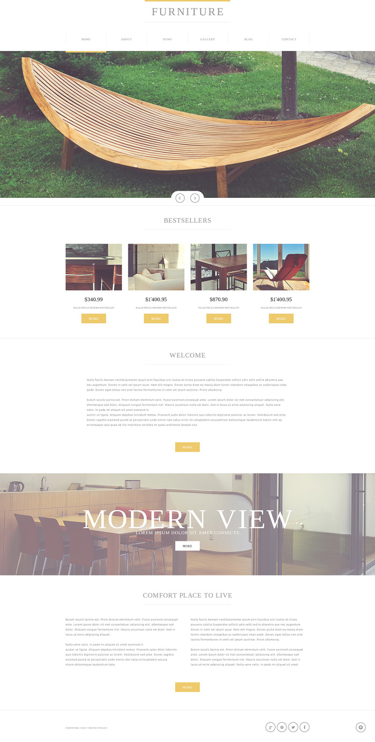 Furniture Store Joomla Template New Screenshots BIG