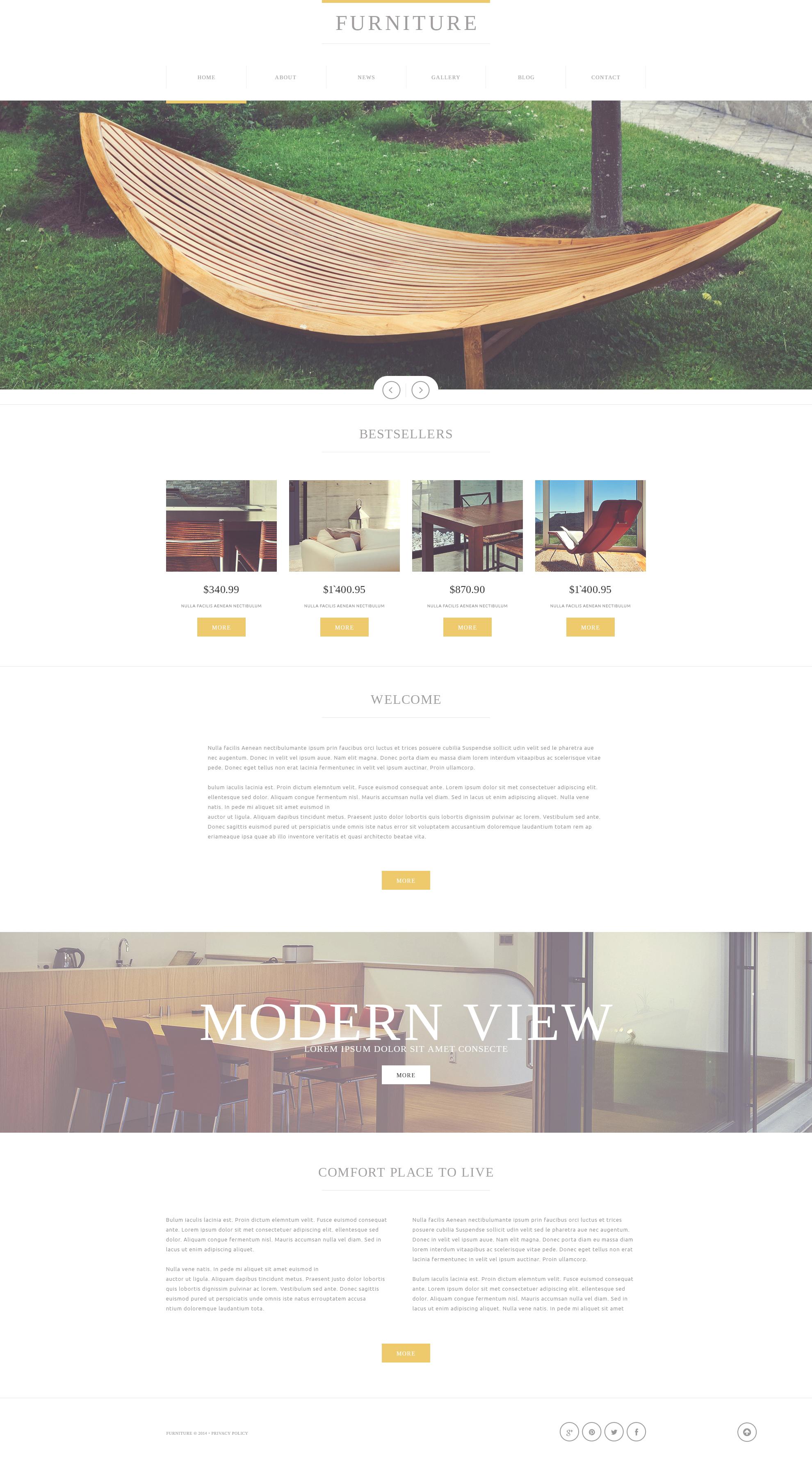 Furniture Store Joomla Template