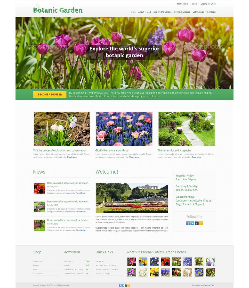 Garden Design Template garden design psd template #49554