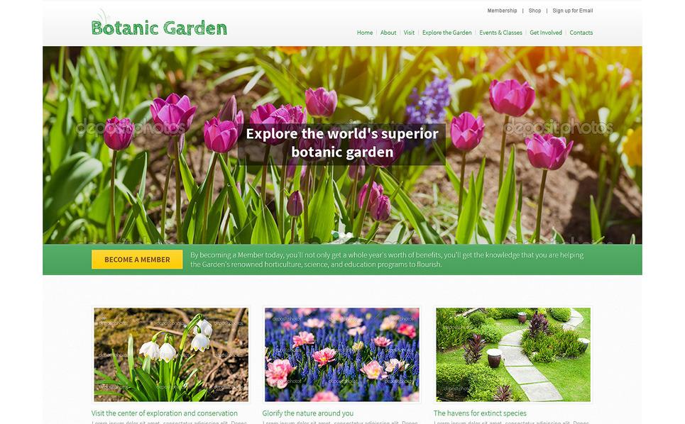 Garden Design PSD Template 49554