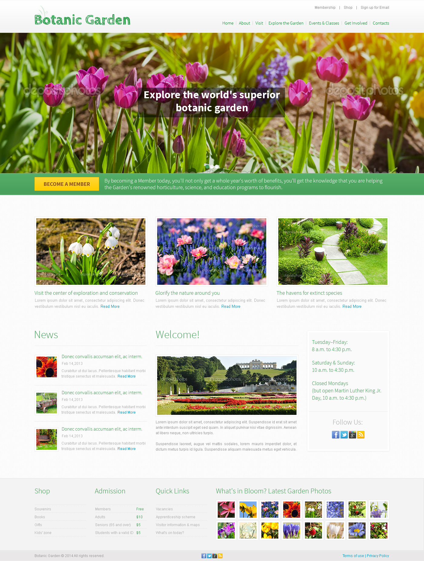 Garden Design PSD Template #49554