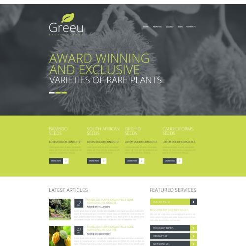 Greeu Exotic Plants - Responsive Joomla! Template