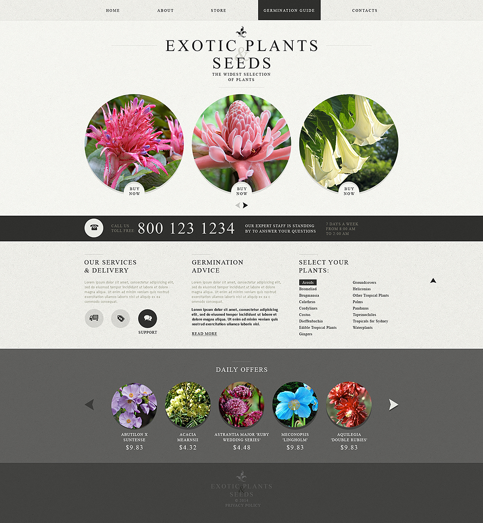 Garden Design Responsive Website Template #49564