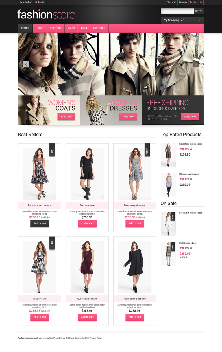 Getting Clothes Online WooCommerce Theme New Screenshots BIG