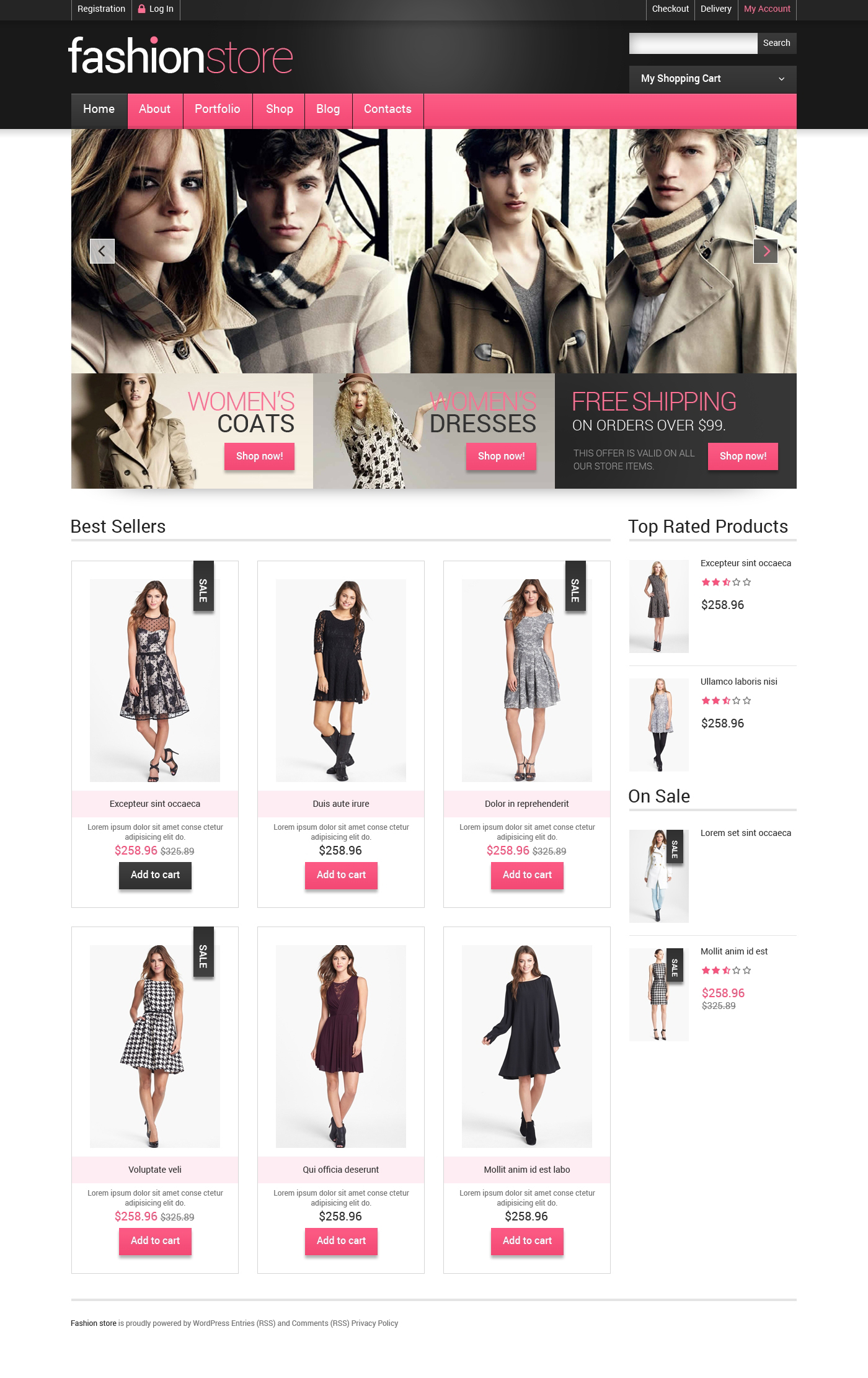Getting Clothes Online WooCommerce Theme - screenshot
