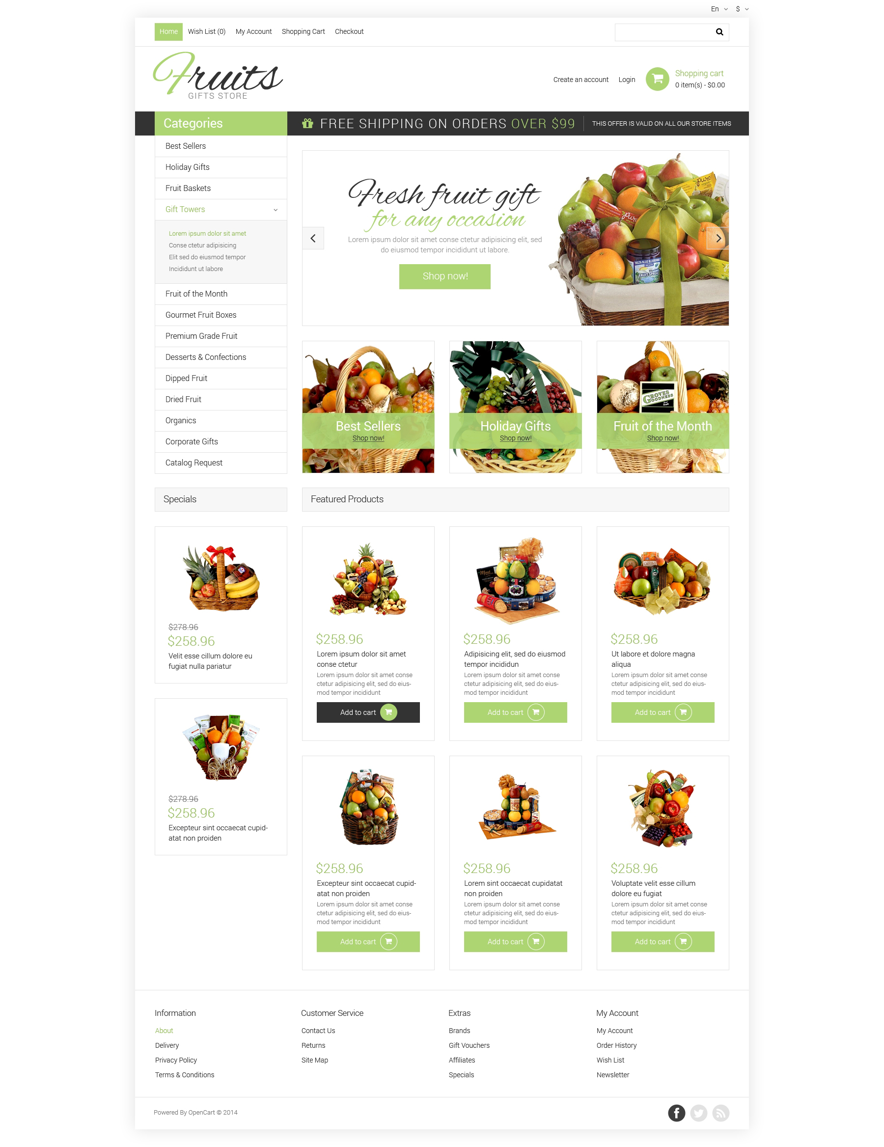 Gifts PSD Template