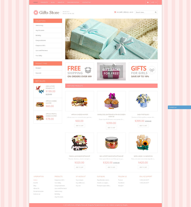 Gifts Store Responsive Shopify Theme New Screenshots BIG