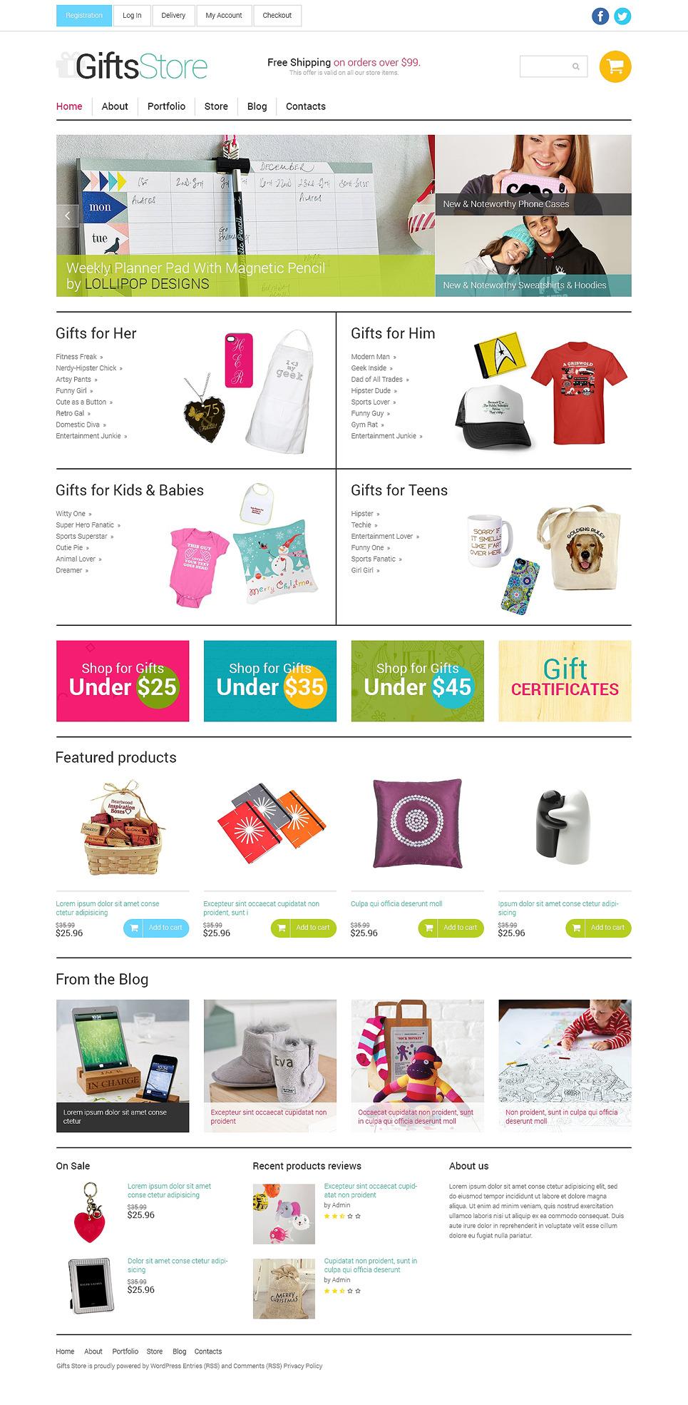 Gifts Store Responsive WooCommerce Theme New Screenshots BIG