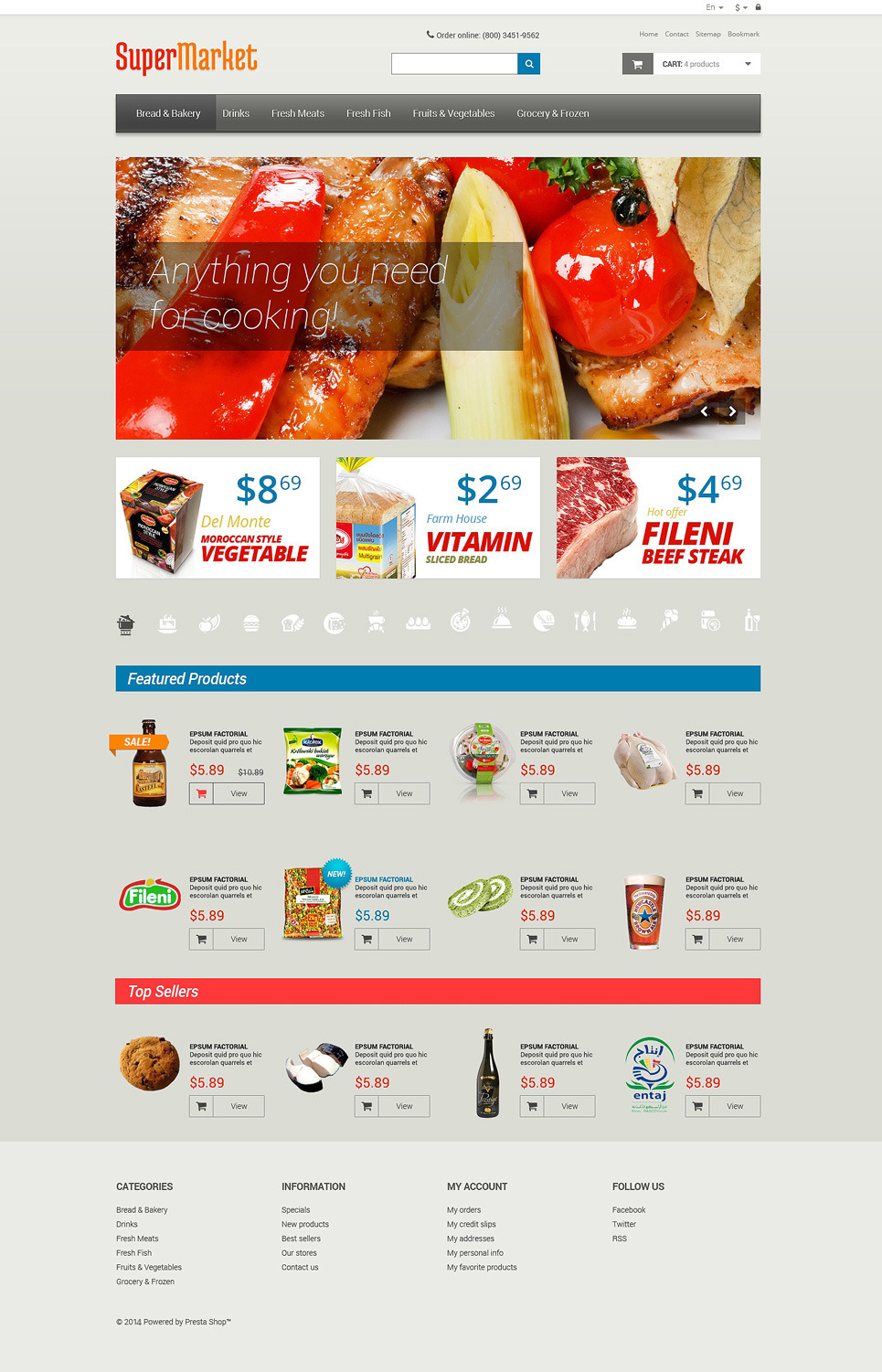 Grocery Store PSD Template New Screenshots BIG