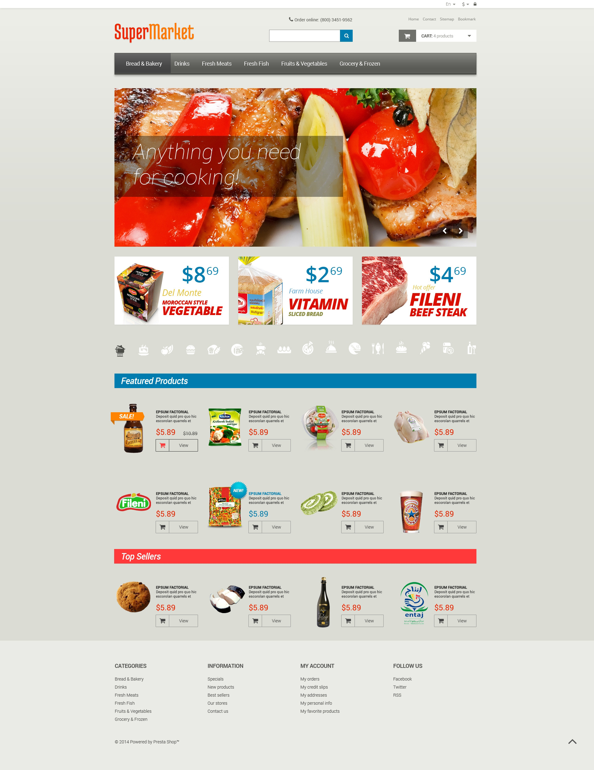 Grocery Store PSD Template  Grocery Templates