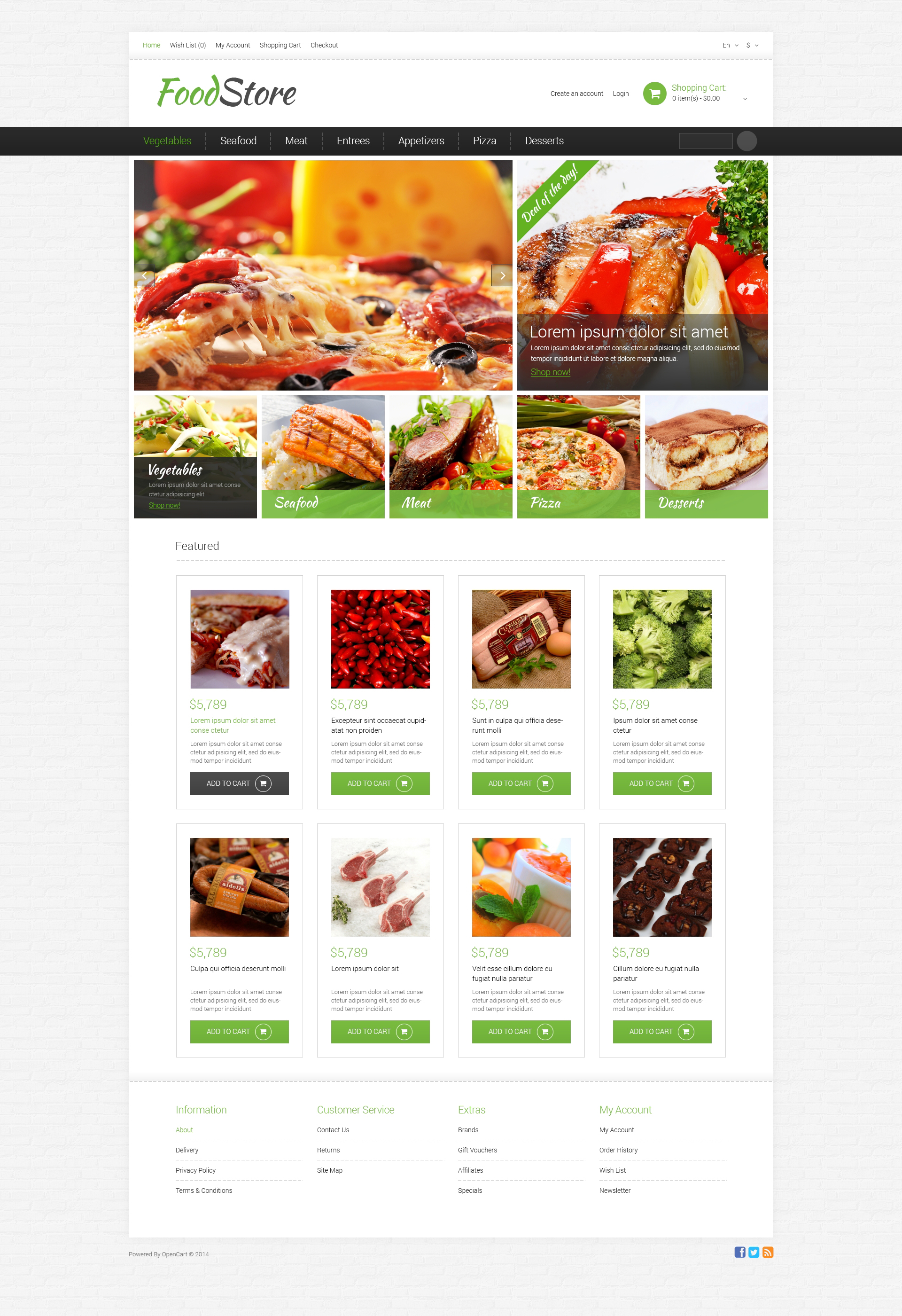 Grocery Store Responsive OpenCart Template 49581 – Grocery Templates