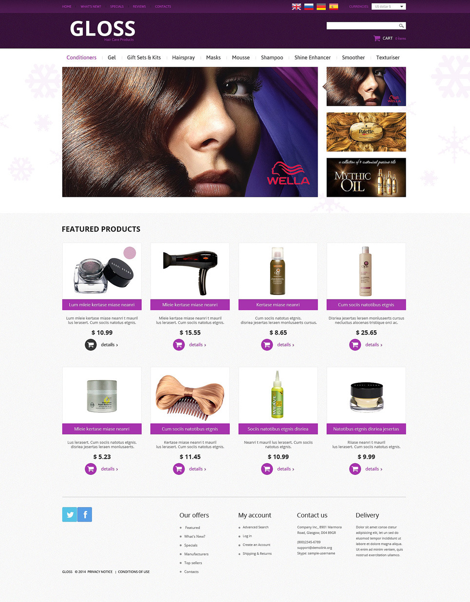 Hair Salon PSD Template New Screenshots BIG