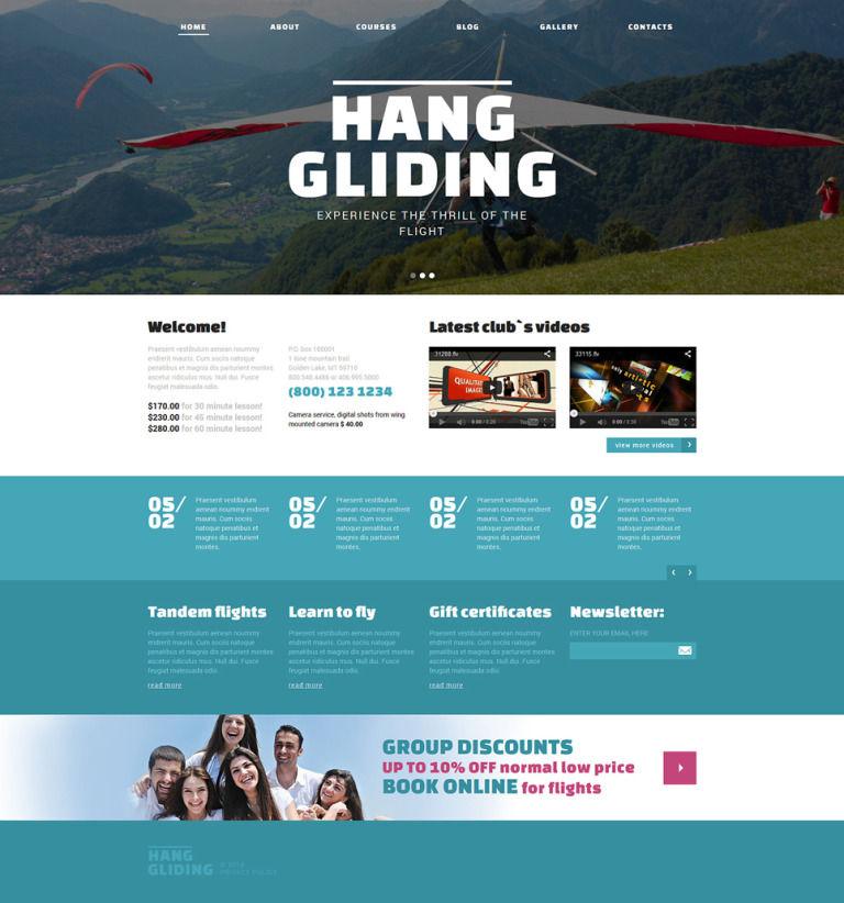 Hang Gliding Club Joomla Template New Screenshots BIG