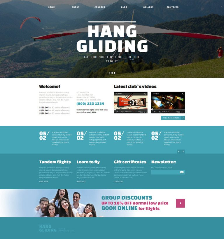Hang Gliding Club Joomla Template New Screenshots BIG