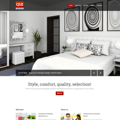 43 best interior design website templates for Interior design sites