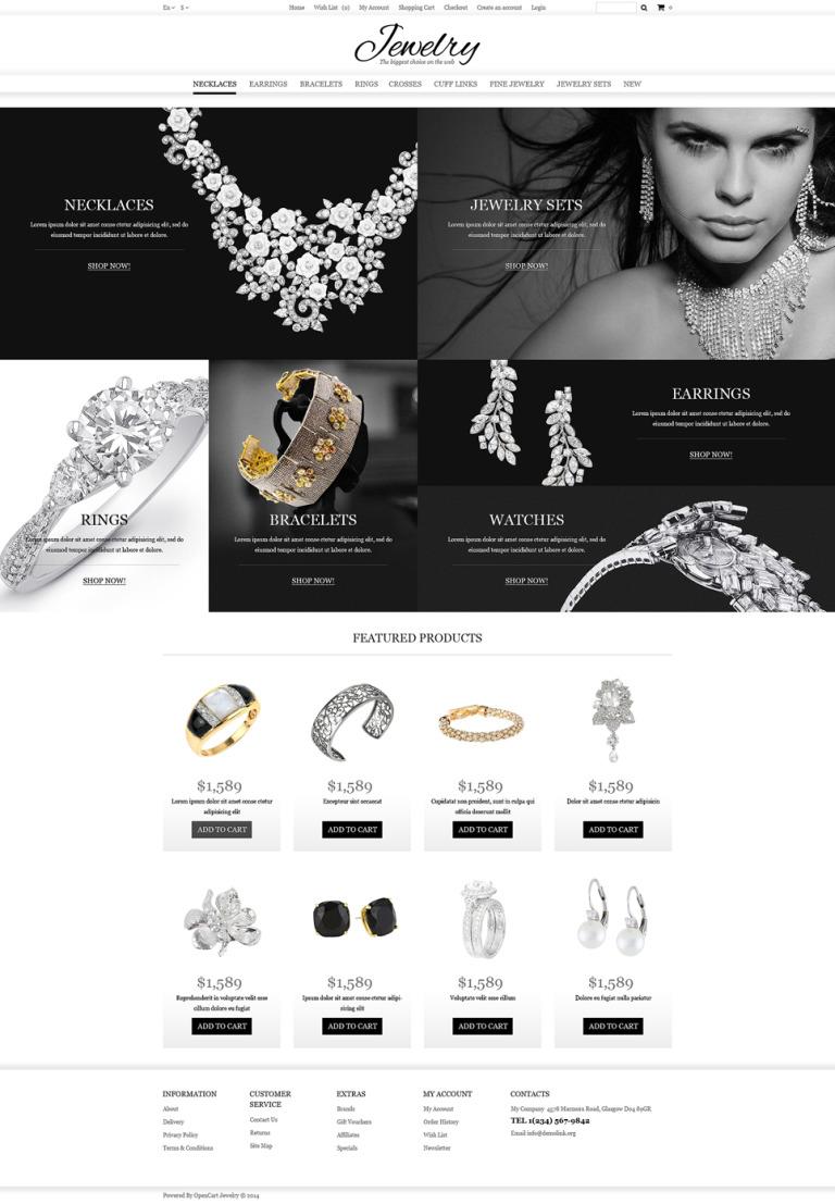 Jewelry Online Shop OpenCart Template New Screenshots BIG