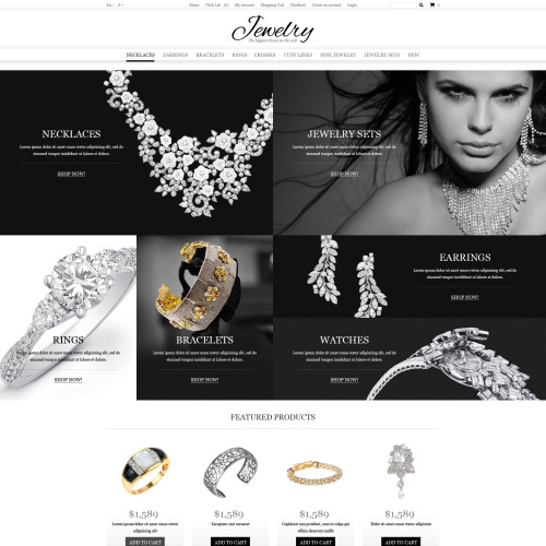 Jewelry Online Shop - OpenCart Template based on Bootstrap