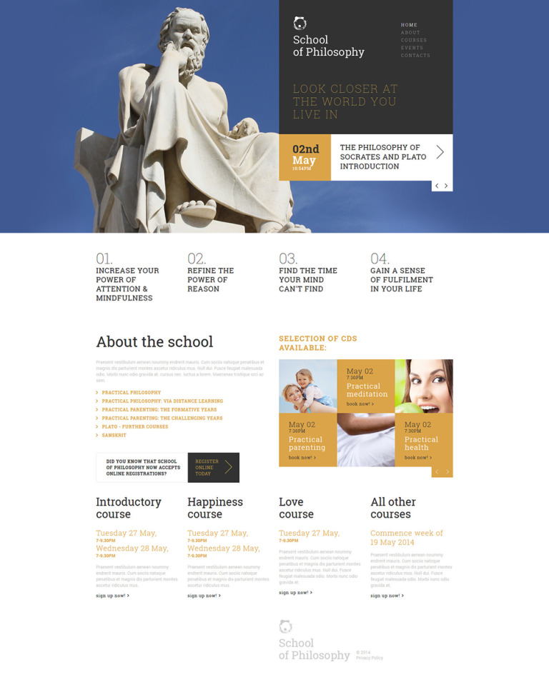 Love of Wisdom School Joomla Template New Screenshots BIG