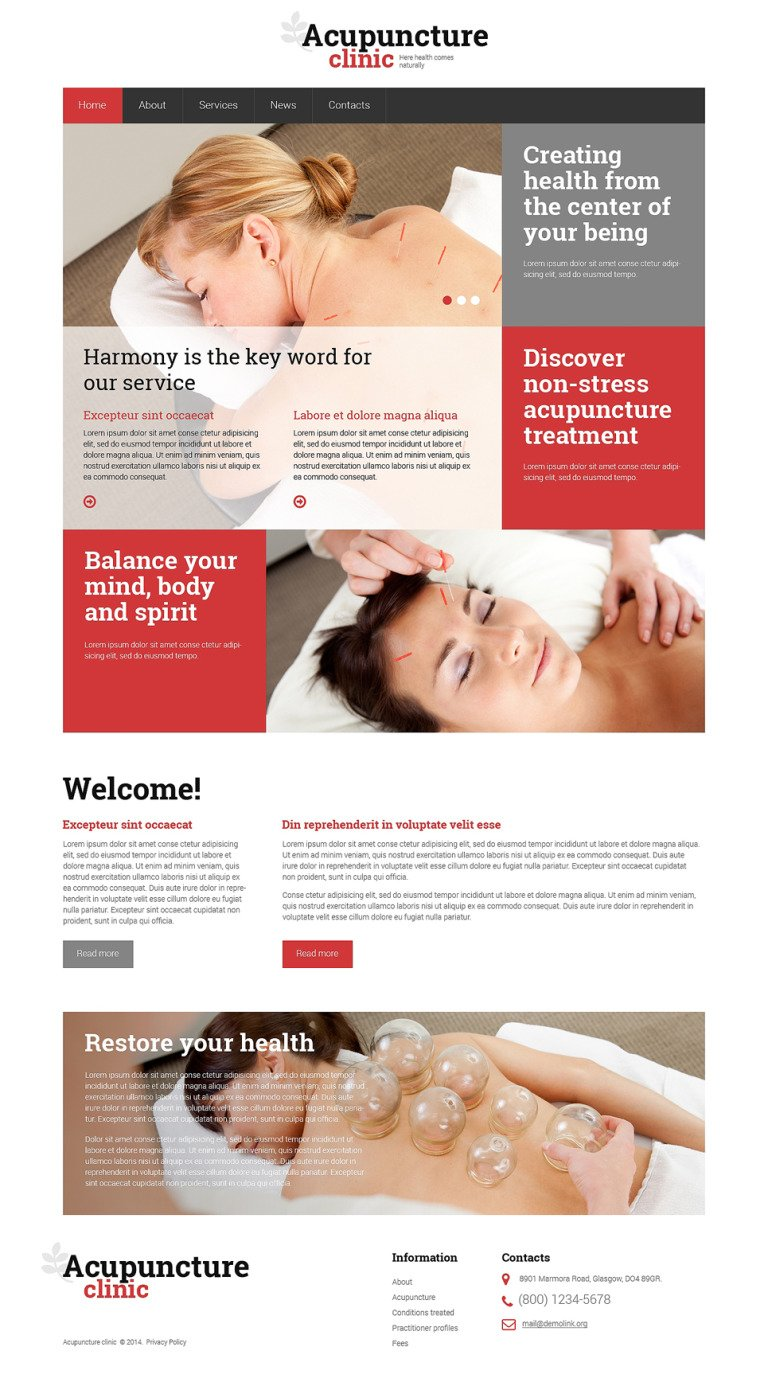 Massage Salon Responsive Website Template New Screenshots BIG